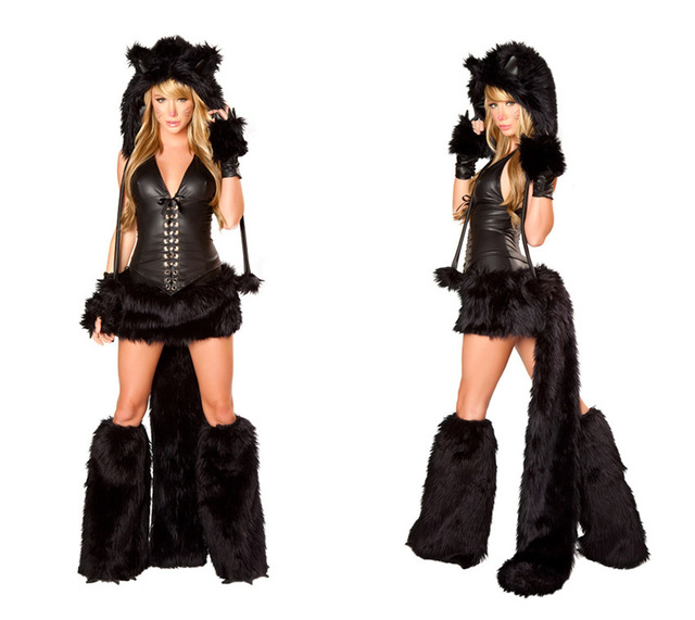 Free Shipping Sexy Black Cat Animal Adult Furry With Tail Sexy Cheshire Cat Halloween Costume for  sc 1 st  AliExpress.com & Free Shipping Sexy Black Cat Animal Adult Furry With Tail Sexy ...
