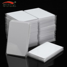 100 stks/partij IC Card 13.56MHz ISO14443A S50 MF MFS50 Proximity Smart Universele Label RFID Tag Access Control Card