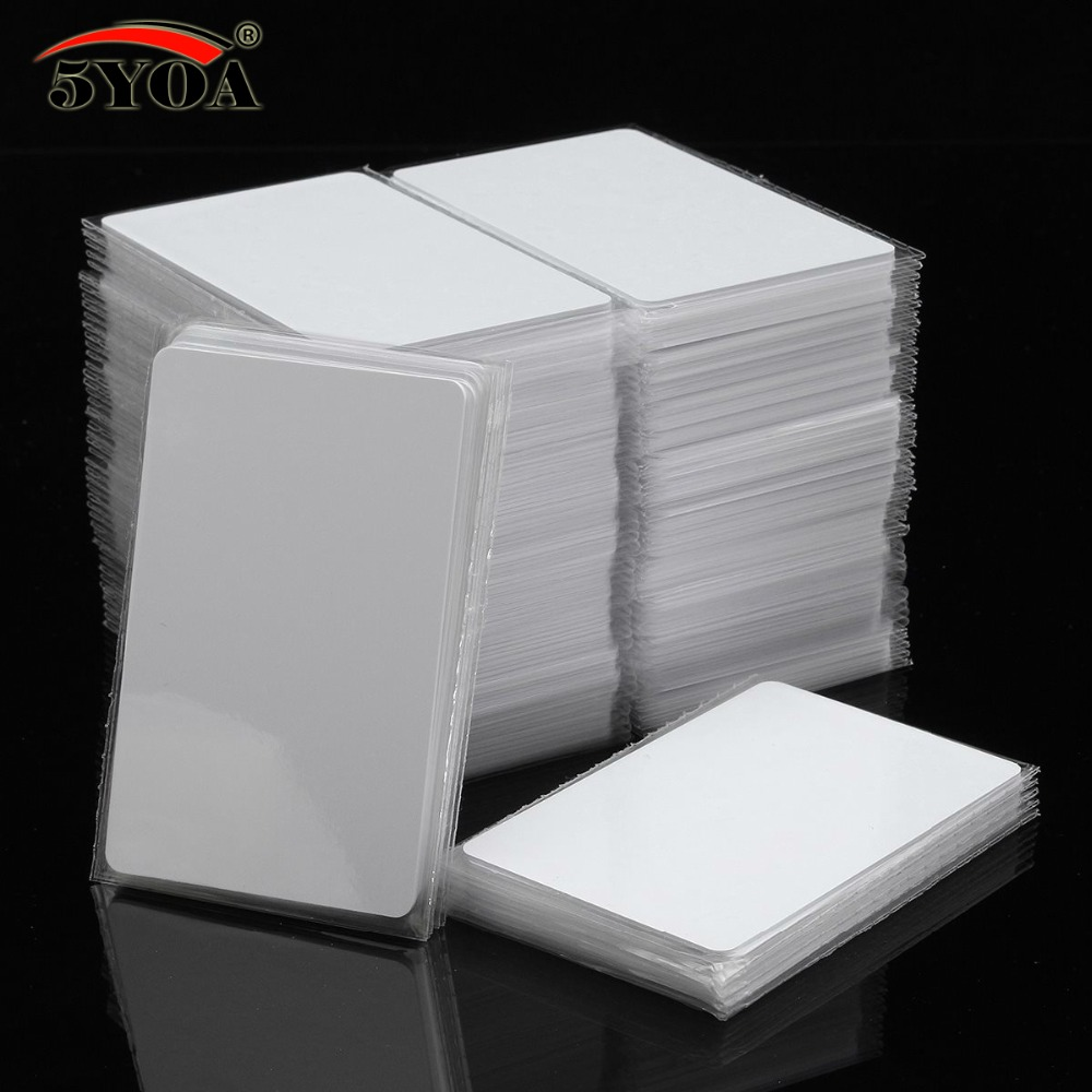 100pcs/Lot IC Card 13.56MHz ISO14443A S50 MF MFS50 Proximity Smart Universal Label RFID Tag Access Control Card