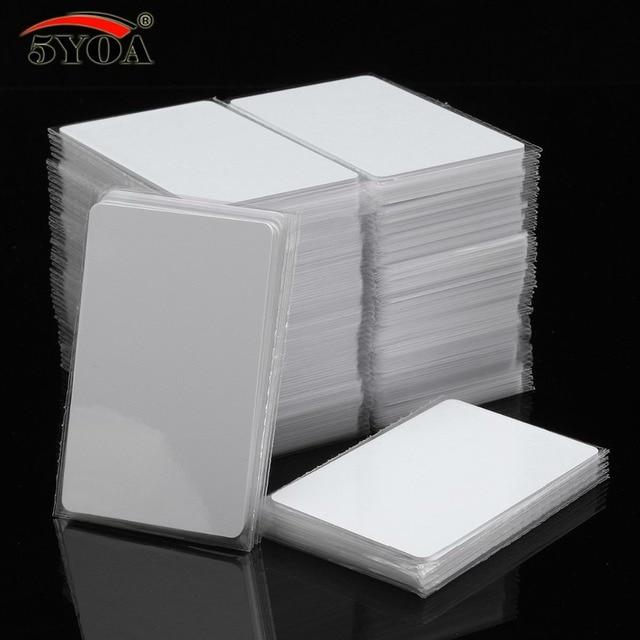 100pcs/Lot IC Card 13.56MHz ISO14443A S50 MF MFS50 Proximity Smart Universal Label RFID Tag Access Control Card