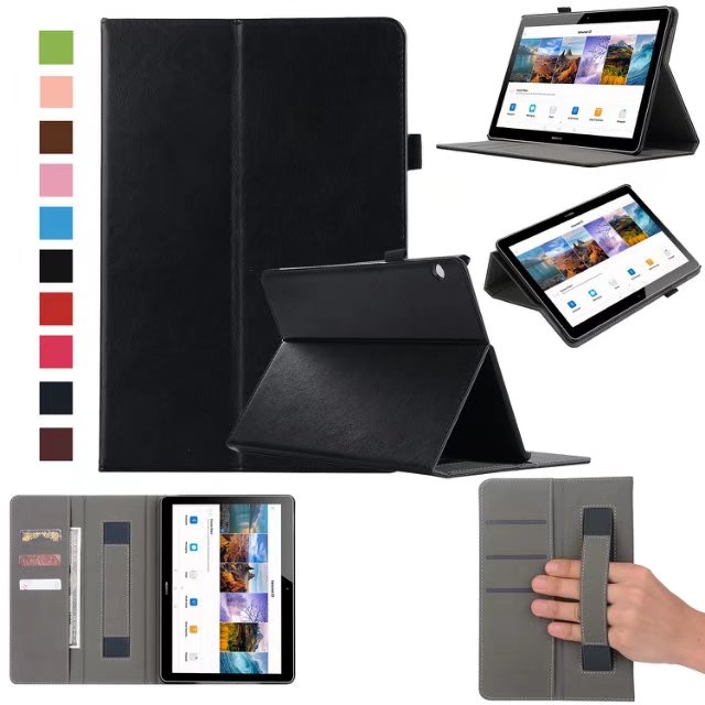Luxury Business Case For Huawei MediaPad T3 10 AGS-L09 AGS-L03 9.6 inch Cover Funda Tablet Leather Hand Belt Holder Stand Shell luxury business case for huawei mediapad t3 10 ags l09 ags l03 9 6 inch cover funda tablet leather hand belt holder stand shell