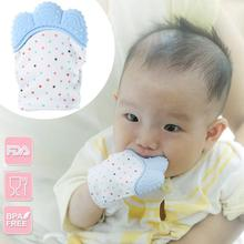 Baby Silicone Teether Gloves Newborn Kids Teething Chewable Anti-suck Fingers Pacifier Thumb Infant Nursing Mittens Beads