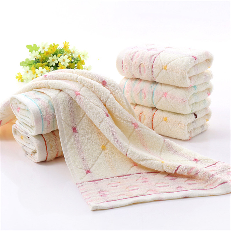 New Arrival Hand Towel Cotton Towels Solid Rhombic Plaid Jacquard Face Towel Gift Breathable Quick Dry Towels Bathroom 34 76cm in Face Towels from Home Garden