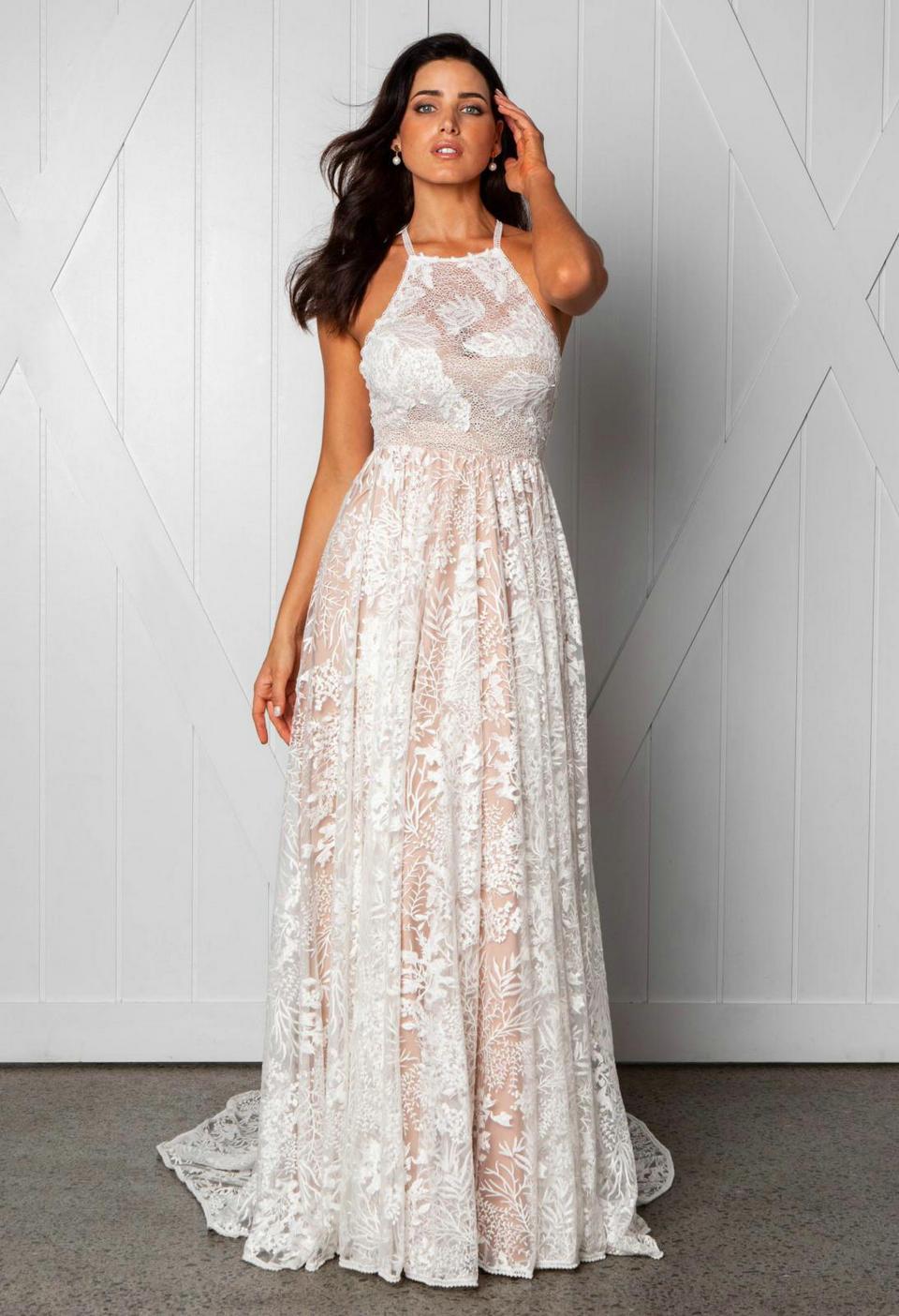 Wedding Attire For Women.Us 43 61 11 Off Luxury Boho Lace Long Wedding Dress 2019 Elegant Wedding Gowns Women Party Bohemian Scoop Backless Beach Rural Bride Dresses New In