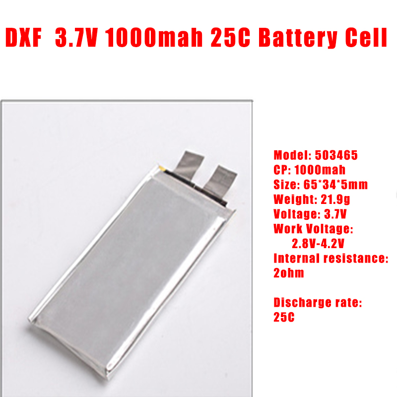 GTFDR 3.7V <font><b>1000mah</b></font> 25C max60C Repacement rechargeable <font><b>lipo</b></font> battery Helicopter Airplane drone 2S <font><b>3S</b></font> 4S 6S Battery cell image