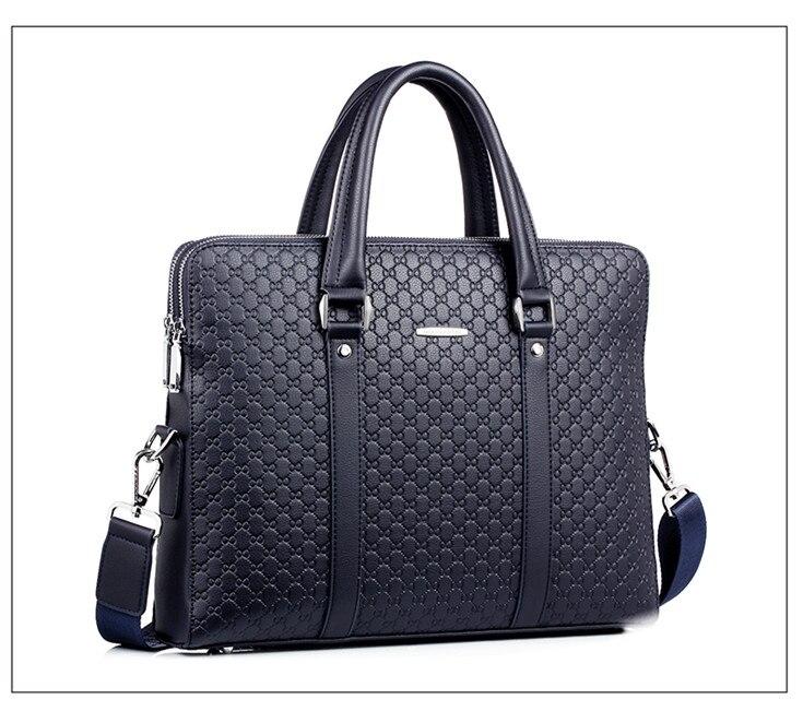 HTB12vrhbA5E3KVjSZFCq6zuzXXaF Double Layers Men's Microfiber Synthetic Leather Business Briefcase Casual Shoulder Bag Messenger Bag Laptop Handbag Travel Bag