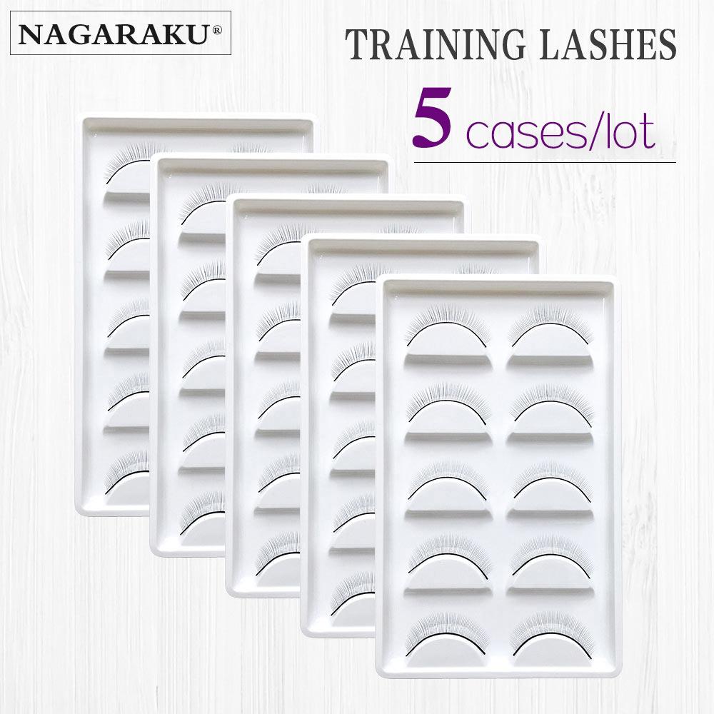 NAGARAKU 5 trays/Set False Eyelashes Handmade Training ...