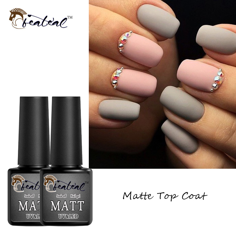 Matte topcoat gel til design Varnish Matte topcoat UV Gel lak fjernet ved blødning de polske tips ...