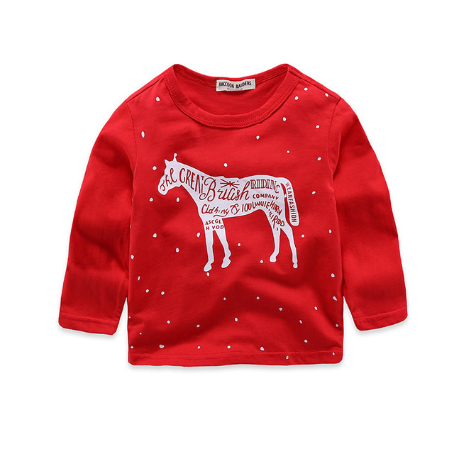 07b95ac95 2017 Brand Christmas Red Boys T Shirt Kids Tops Designer Baby ...