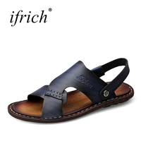 Ifrich Mens Shoes Casual Breathable Sandals for Mens Comfortable Outdoor Sandals Summer Shoes Mans