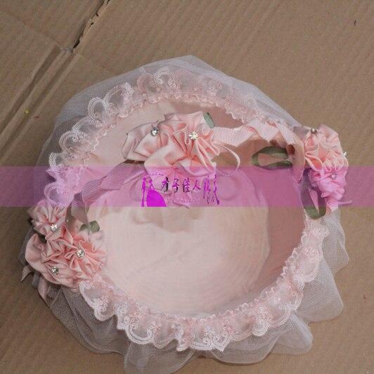 Pink flower basket lace candy basket petal basket wedding for Aana decoration wedding accessories