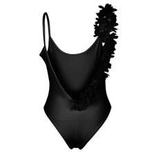 White Swimsuit Women One Piece Flower Ruffled Cuff Swimwear Sexy Bathing Suit Beachwear femme Thong monokini Solid Swimsuit 2017