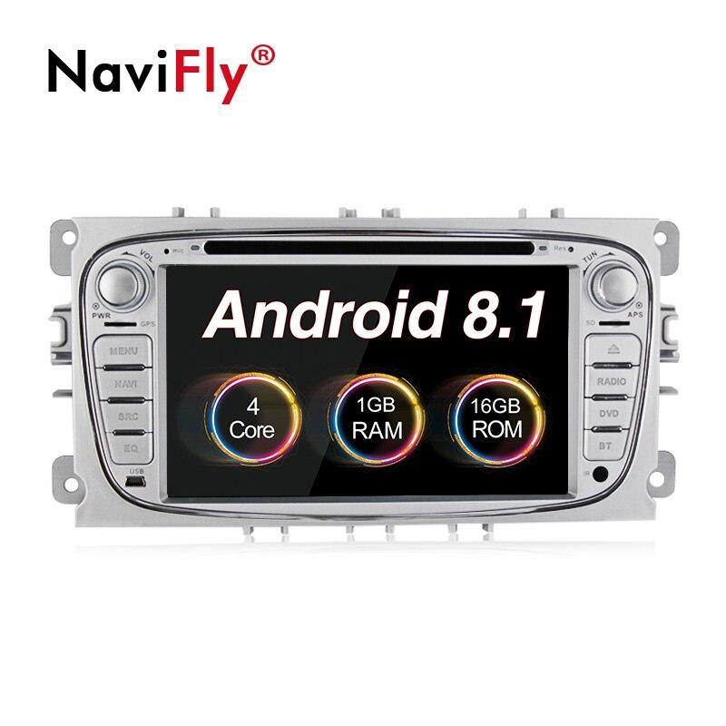 Nouveauté! 7 pouces 2 din Android 8.1 voiture gps autoradio multimédia pour FORD/Focus/S-MAX/Mondeo/C-MAX/Galaxy lecteur dvd unité de tête