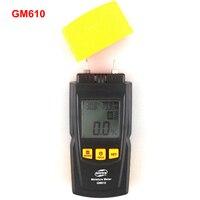 GM610 Cầm Tay Gỗ Đồng Hồ Đo Ẩm với Nhiệt Độ Độ Ẩm Tester LCD Đèn Nền