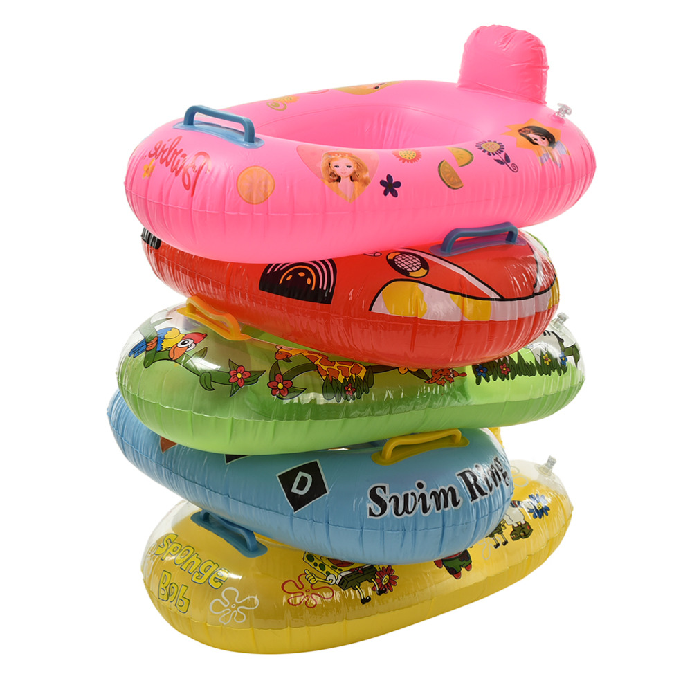 ᗕCute Kids Baby Child Inflatable Swimming laps Pool Swim Ring Seat ...