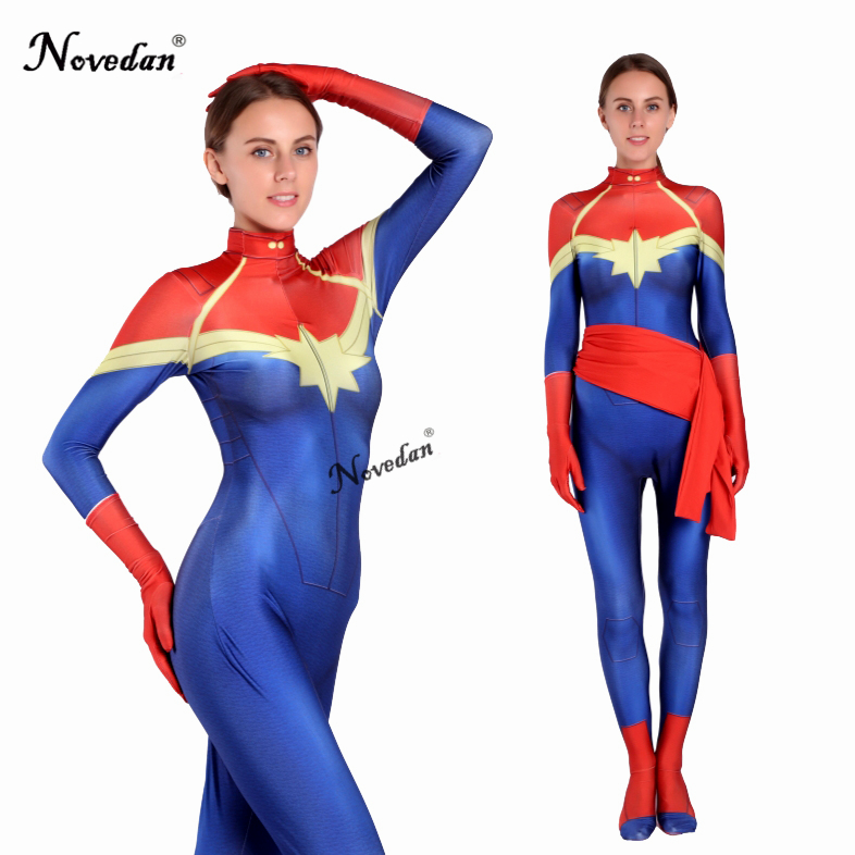 Avengers Infinity War Captain Marvel Costume Female Women -8803