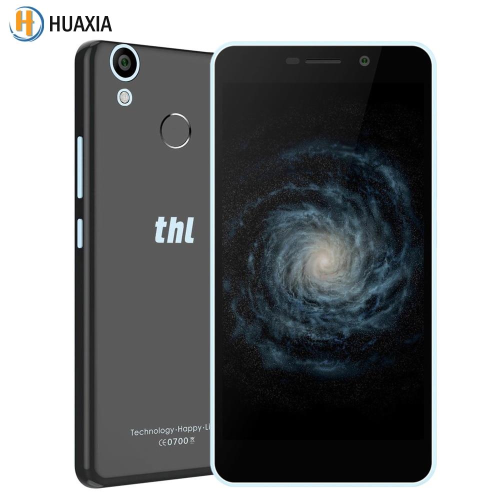 "Original THL T9 Android 6.0 Quad Core 5.5"" 1G RAM 8G ROM Smartphone 4G FDD-LTE Fingerprint 3000mAh Dual SIM Mobile CellPhone"
