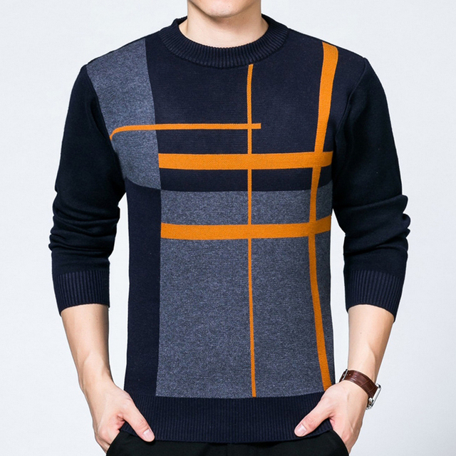 High quality 2016 Winter Men Sweater O-neck Long sleeve Pullovers Brand Casual Slim Jumpers Male Clothing Knitwear plus size