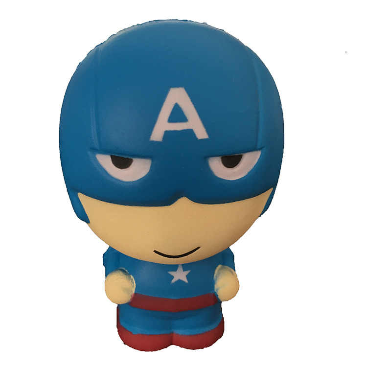 Супер герой мягкими замедлить рост Железный человек паук игрушка-давилка Jumbo Squeeze снятие стресса игрушечные лошадки телефон ремень для малыша