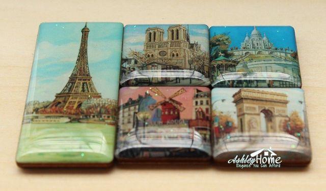 Kühlschrankmagnete Set : Mini set von 5 frankreich paris 3d doming souvenir magnete