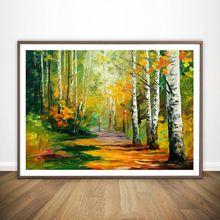 Абстрактный пейзаж Настенная картина Настенный декор холст фотопостер