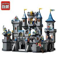 Enlighten New Building Block Set 1023 Medieval Lion Castle Knight Carriage Model Toys For Children Brinquedos