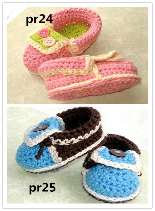 Crochet Baby Shoes, Baby Moccasins Booties