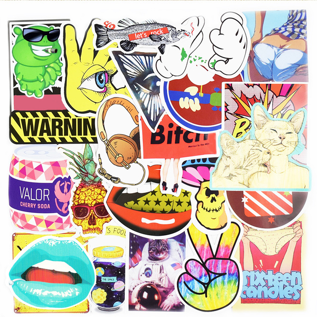 Crazy Stickers – 50 Pcs