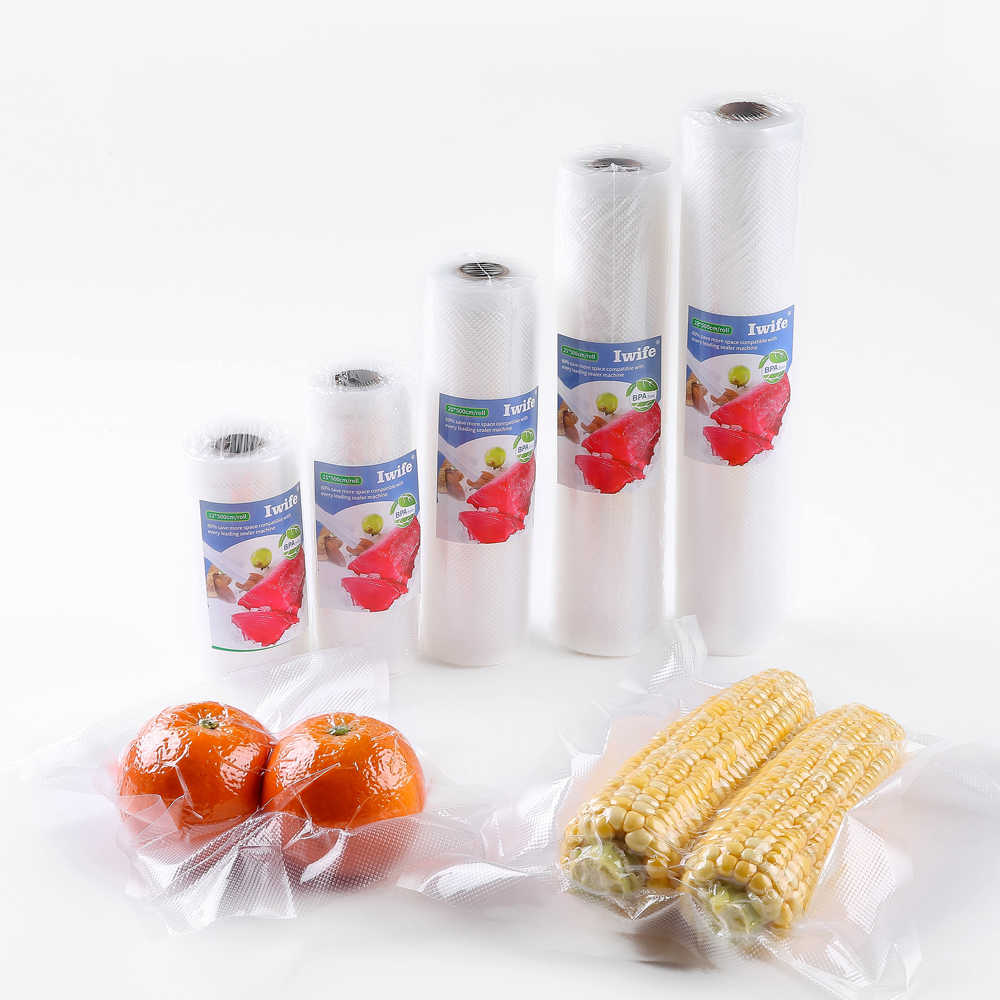 Iwife Vacuum Sealer Bags For Food Packing Vacum Sealing Packer Machine Bag 12 15 17 20 25 28 cm*500cm 1 Roll Dropshipping