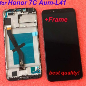 Image 4 - Cadre 2018 nouveau 5.7 pouces pour Huawei Honor 7C Aum L41 écran LCD écran tactile numériseur assemblée livraison gratuite + cadre Original LCD