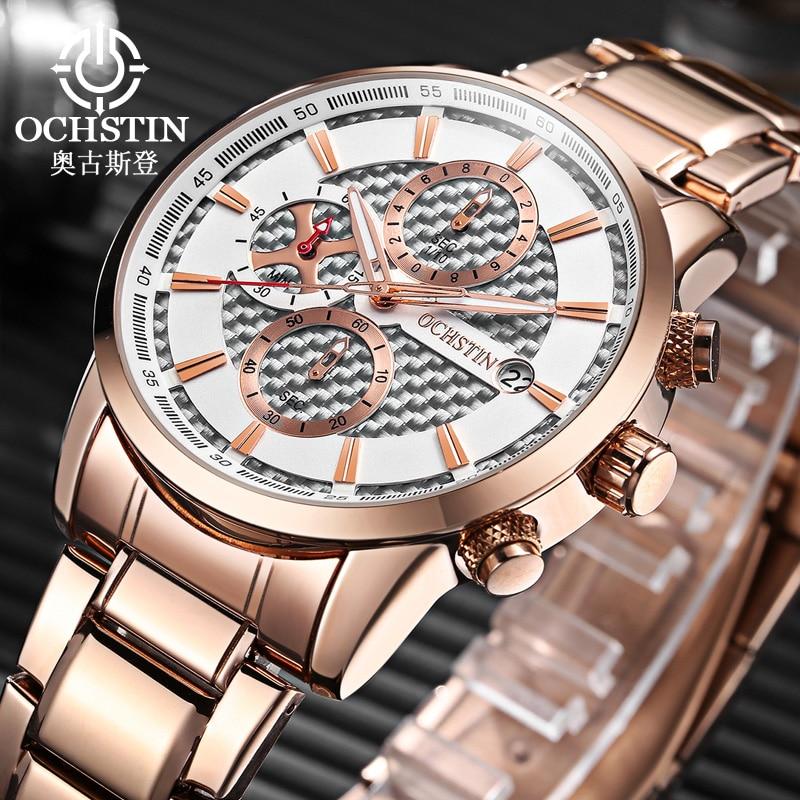 OCHSTIN Brand Sports Wrist Watch Men's Military Waterproof Watches Fashion Stainless Steel Watch Men Wristwatches Clock Male