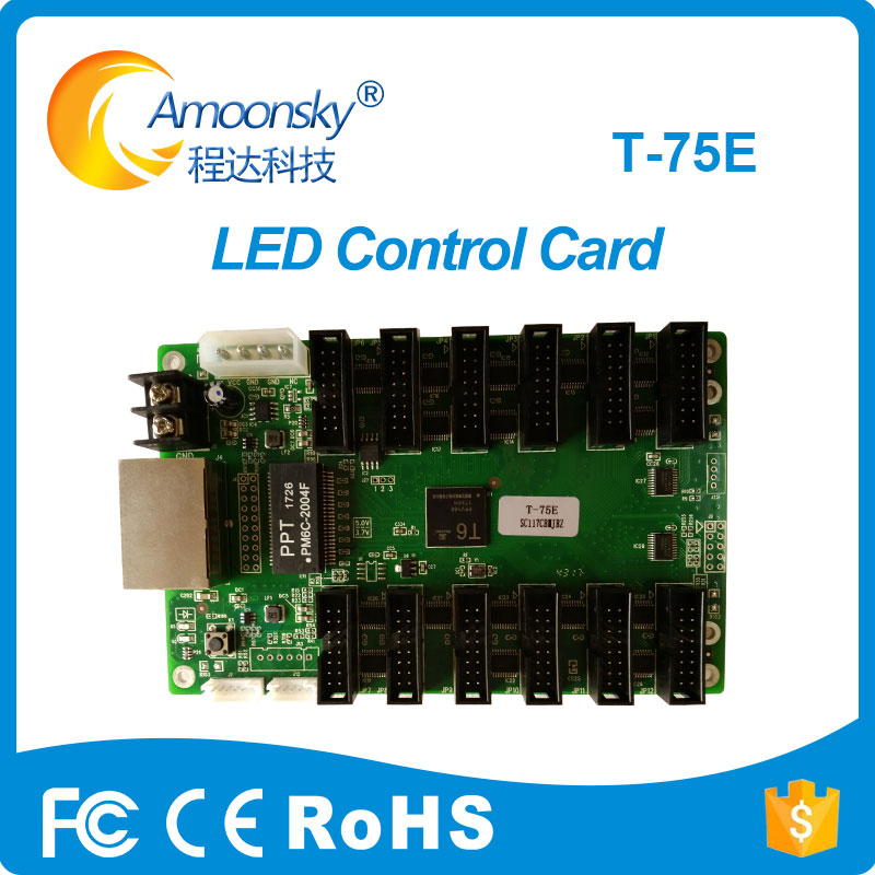 New Arrive Mooncell Led Receiving Card T-75E Work With M-ST20 Sending Card