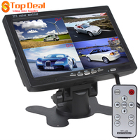 Factory Price 7 Inch 4 Split Quad Video Displays Automatic Identify Input Signal TFT LCD Car