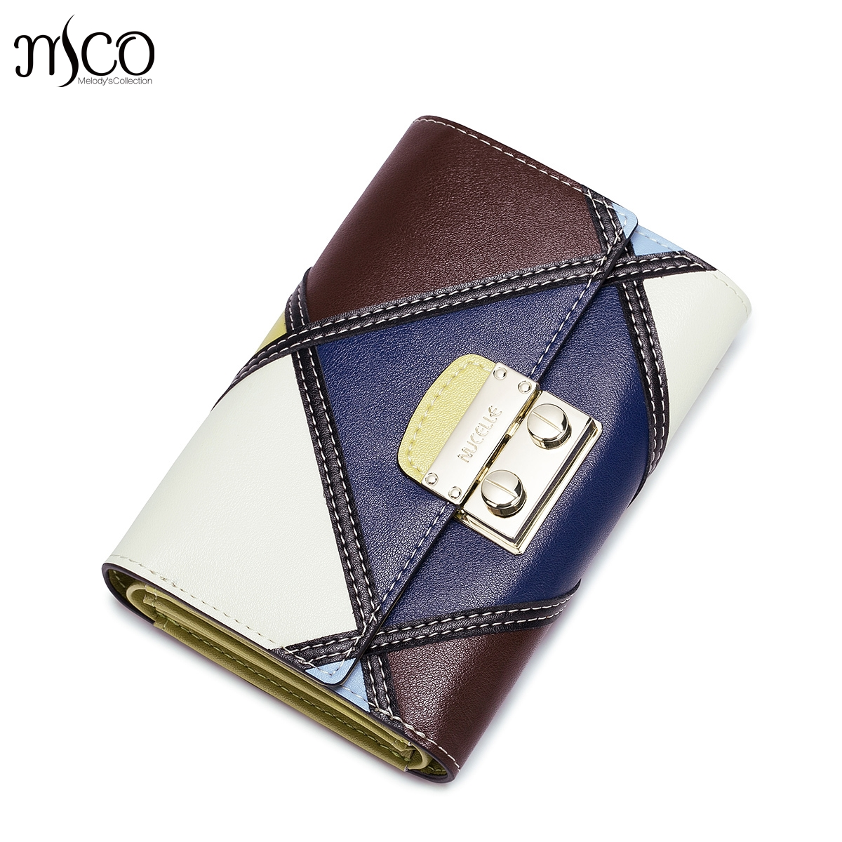 Brand Design Genuine Leather Geometric Women Mini Wallet High Quality Cowhide Short Clutch Purse Coin package Card Money Clips 2017 genuine cowhide leather brand women wallet short design lady small coin purse mini clutch cartera high quality
