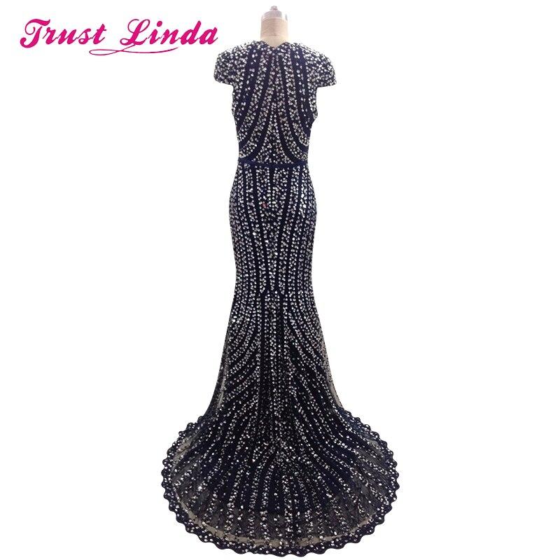 Echte afbeeldingen hoge kwaliteit diepe V-hals schede jurken kralen - Jurken voor bijzondere gelegenheden