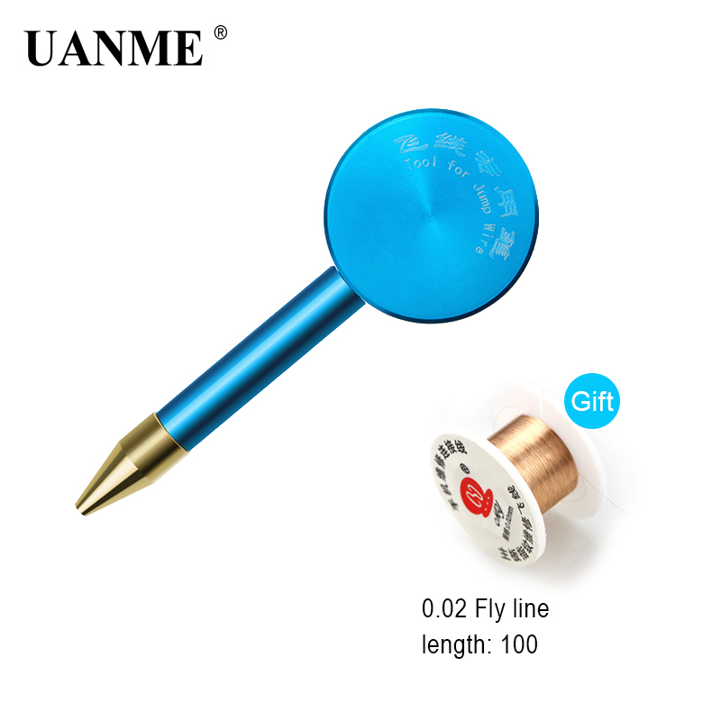 UANME Insulation Jump Wire For IPhone Fingerprinter Senso Box PCB Welding PCB Link Wire Copper Soldering Wire 0.02mm For Gift