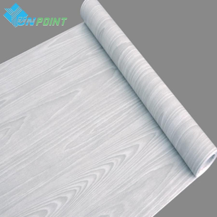 0.45x5M Waterproof Wood Wall Sticker Self-adhesive Bedroom Wardrobe Desktop Wood Door Sticker Old Furniture Renovation Wallpaper