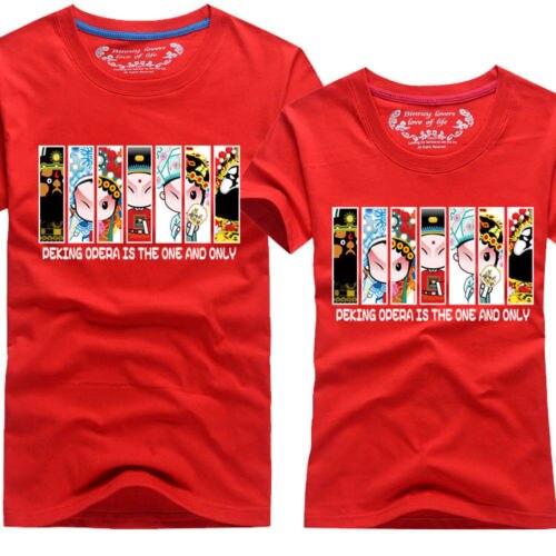 Мужские топы Летняя одежда для влюбленных парная футболка Peking Opera B