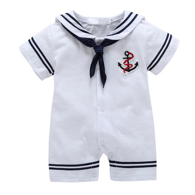 64c727dd7a Roupas de bebê menino macacão de bebê verão roupas de bebê menino marinha  roupa jpg 640x640