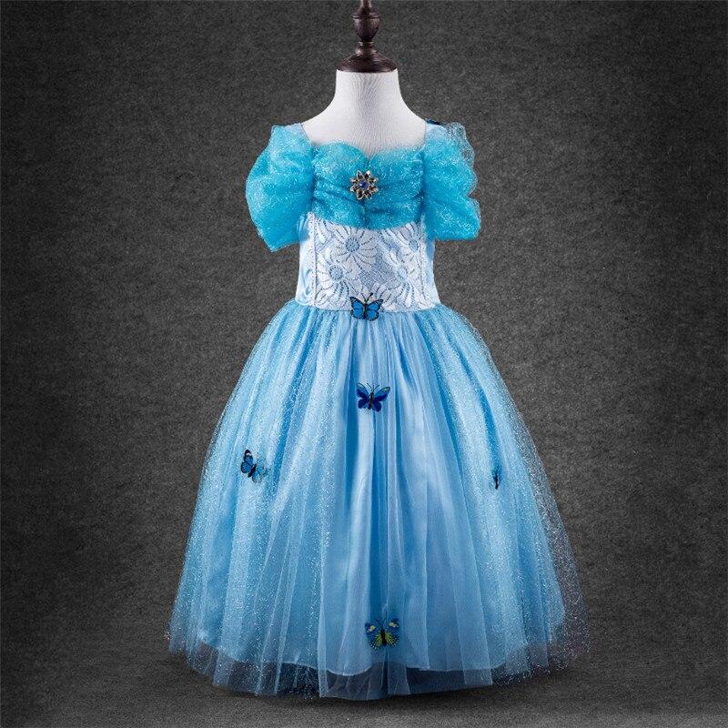 333661fec ᐂFrete grátis Elsa Anna Princesa Traje Fantasia Roupa Vestido Longo ...