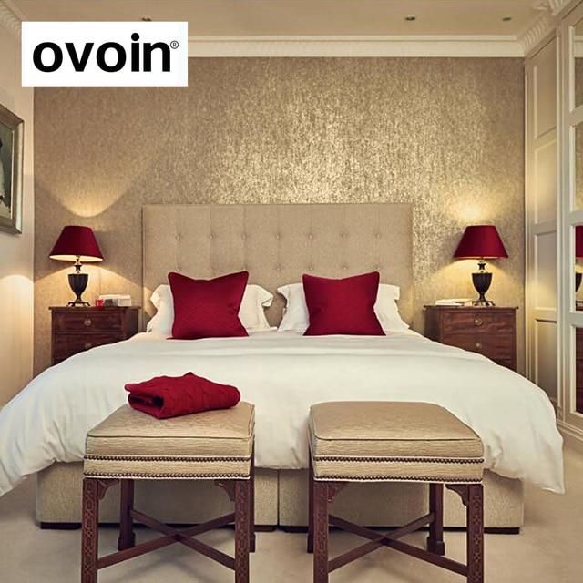 Rollo de papel tapiz dorado de lujo para decoración del hogar, papel de pared de papel de aluminio dorado brillante, lavable