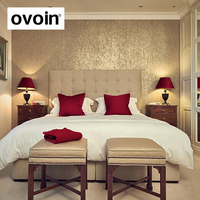 Luxury Gold Foil Wall Paper Embossed Textured Gold Wallpaper Light Reflect Metallic Wallcovering Background 0 53mx10m