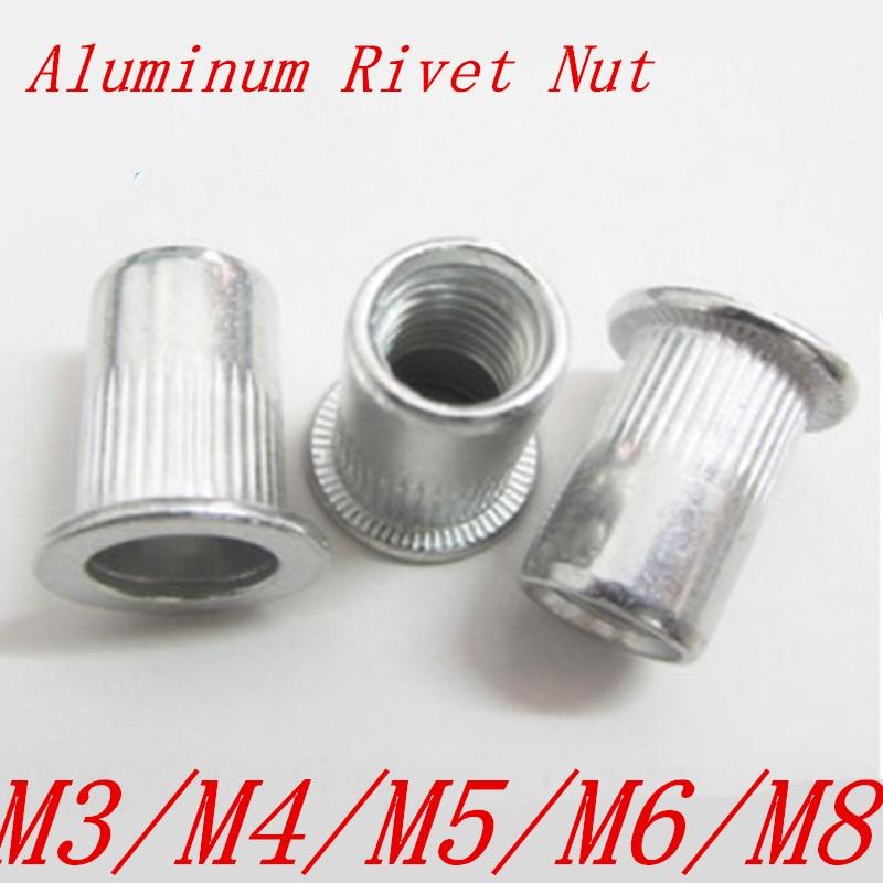 Qty 10 M6 Nutsert Zinc Plated Steel Countersunk Rivetnut Long Grip to 4.5mm