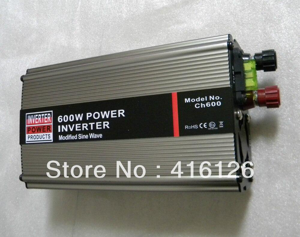 horký prodej 600 WATTS auto měnič, DC 12V do AC220V převodník CE certifikované střídače