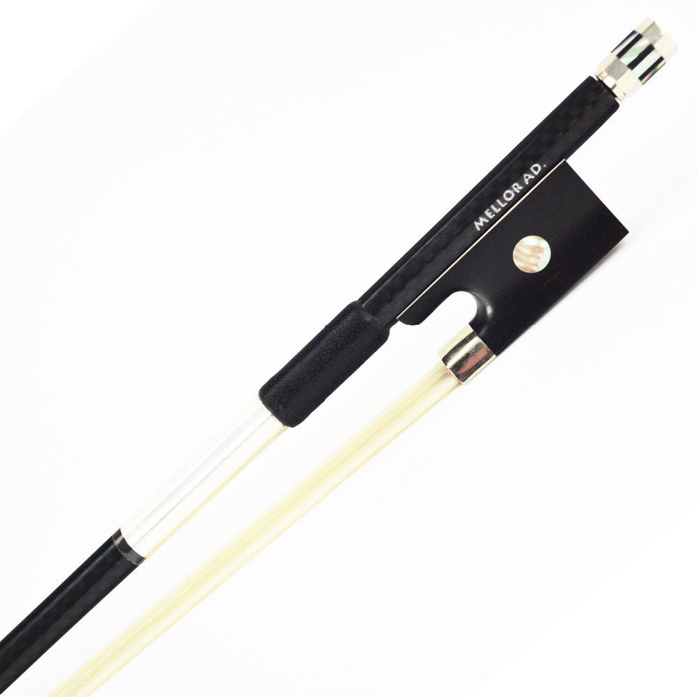 Textured Carbon Fiber Violin Bow Ebony Frog Warm Tone Well Balance More Durable MELLOR Advanced Level A1 Violin Parts accessory violin bow 4 4 high grade brazil wood ebony frog colored shell snake skin violino bow fiddle violin parts accessories bow