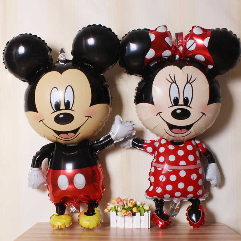 112cm Disney Mickey Minnie Mouse Balloon Cartoon Foil Birthday Party Balloon Birthday Party Decorations Kids Favor Gifts