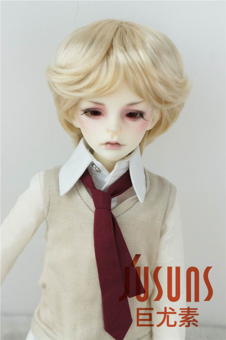 JD192 1/4 Fashion synthetic mohair wig BJD doll wig Nature boyish 7-8inch MSD doll accessories jd145 msd synthetic mohair doll wigs 7 8inch long curly bjd hair 1 4 doll accessories