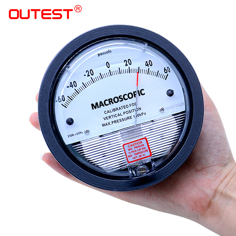 цена на OUTEST Air Differential Pressure Gauge Vacuum Manometer Micro Pressure Gauge Measuring Range 0-30PA~0-30KPA For Choice