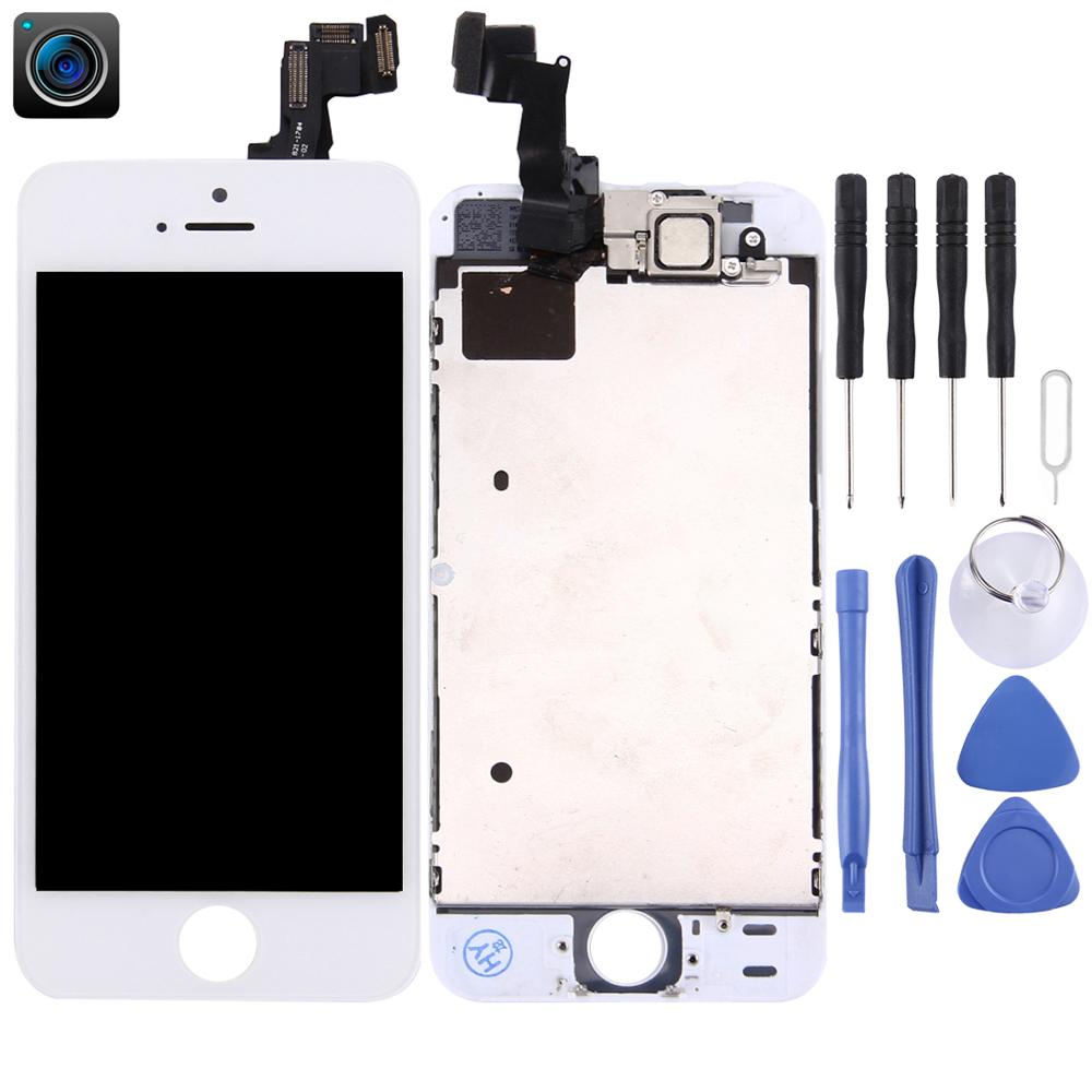 AAA+++ LCD Screen for iPhone 5s 6s Display Full Set Assembly Touch Digitizer Complete Pantalla+Front Camera for iPhone 5S 6S image