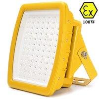 ATEX patlamaya dayanıklı led sel ışık 100 W AC110v 220 v 230 v 240 v ATEX anti patlayıcı 100 w LED ışık 400 w hps yerine metal halide